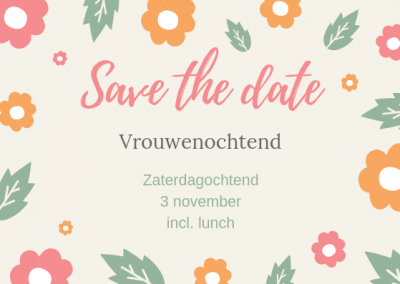 save the date vrouwenochtend